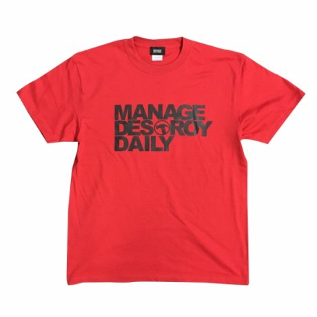 MANAGE*DESTROY / NOE246 - DAILY Ts [REDxBLACK]