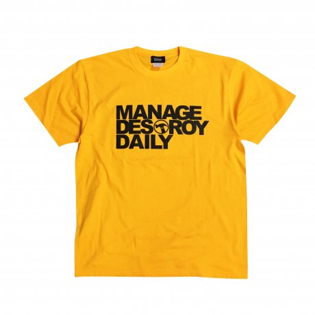 MANAGE*DESTROY / NOE246 - DAILY Ts [YELLOWxBLACK]