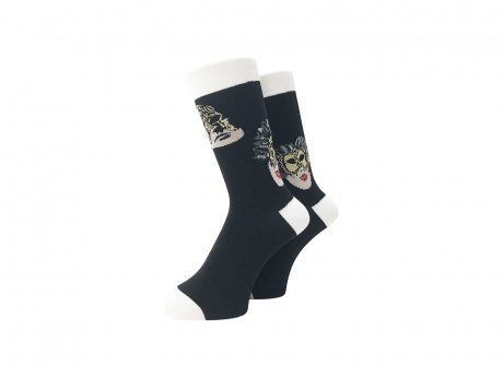 WHIMSY / 32/1 MASK SOCKS(BLACK)
