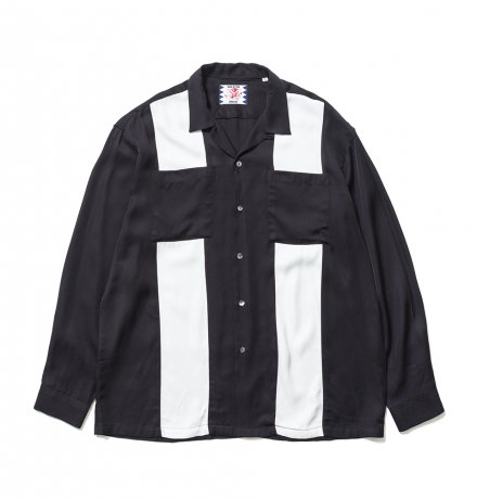SON OF THE CHEESE / bowling shirt(BLACK)
