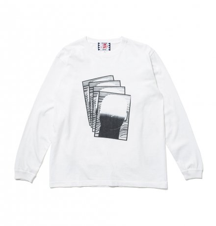 SON OF THE CHEESE / Face commu sleeve(WHITE)