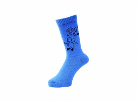 WHIMSY / 32/1 FLANDERS SOCKS(ROYAL)
