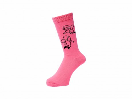 WHIMSY / 32/1 FLANDERS SOCKS(SALMON PINK)