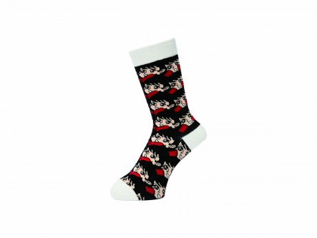 WHIMSY / 32/1 WACKO SOCKS(WHITE)