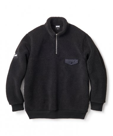 FTC / SHERPA FLEECE HALF ZIP PULLOVER(BLACK)