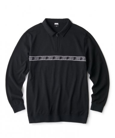 FTC / RIB LOGO HALF ZIP TOP(BLACK)