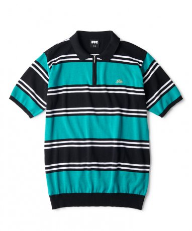 FTC / STRIPED KNIT POLO