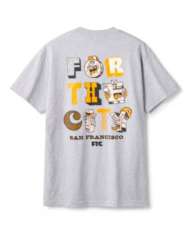 FTC / FOR THE CITY MB TEE(ASH HEATHER)