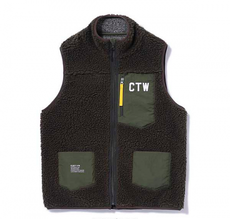 CLUCT / FLEECE VEST(ARMY GREEN)