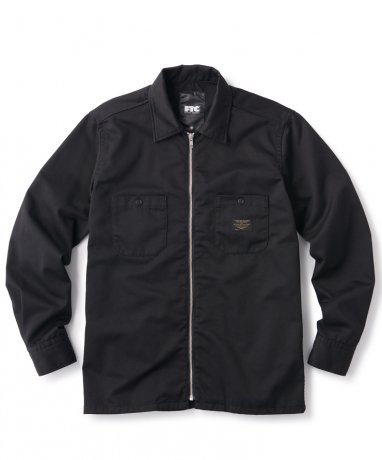 FTC / ZIP UP WORK SHIRT(BLACK)