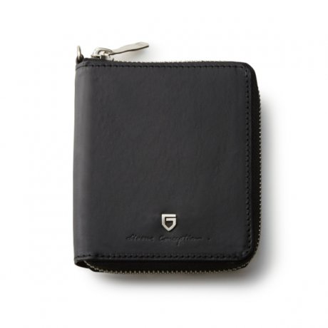GARNI / Sign Zip Fold Wallet(BLACK)