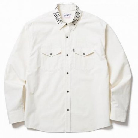 <img class='new_mark_img1' src='https://img.shop-pro.jp/img/new/icons20.gif' style='border:none;display:inline;margin:0px;padding:0px;width:auto;' />CLUCT / PRINTED COLLAR L/S SHIRT(CREAM)