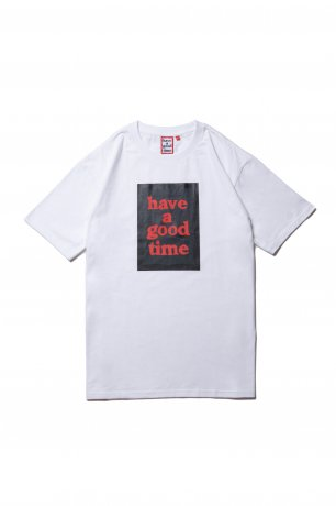 have a good time / BLACK FRAME S/S TEE(WHITE)