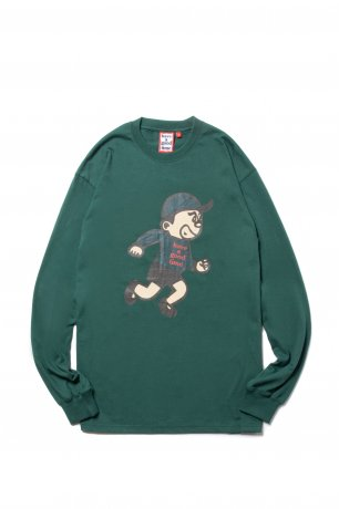 have a good time / GOOD BOY LOGO L/S TEE(BOTTLE GREEN)