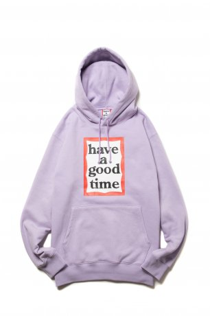 have a good time / FRAME PULLOVER HOODIE(LILAC)