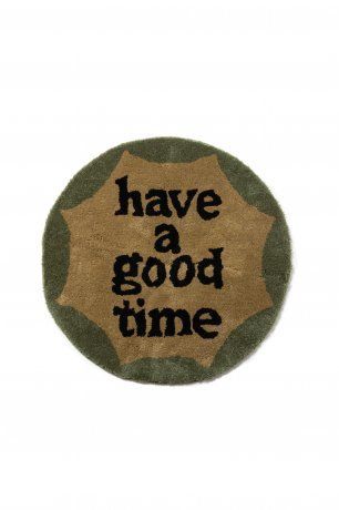 have a good time / CIRCLE MILITARY FRAME RUG (MILITARY GREEN)
