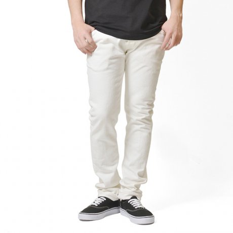 LAFAYETTE / 5 POCKET STRETCH WHITE DENIM PANTS - SLIM FIT