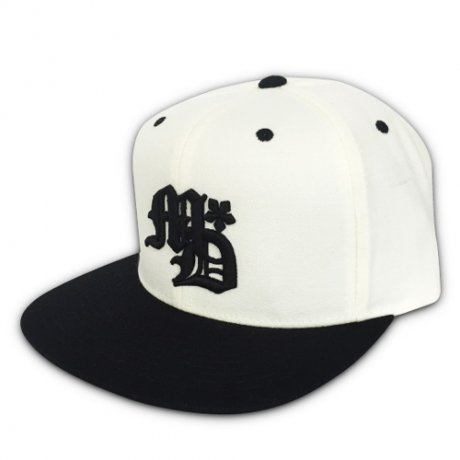 MANAGE*DESTROY / OLD E SNAPBACK CAP [WHITE/BLACK]