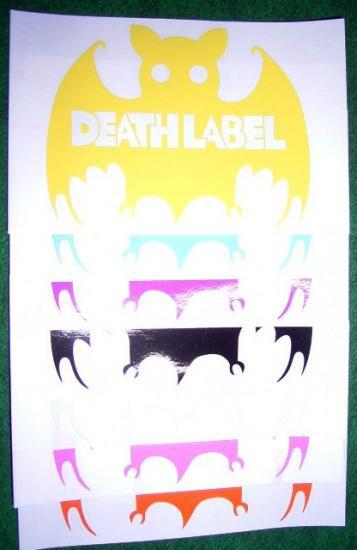 10/11 DEATH LABEL STICKER BAT
