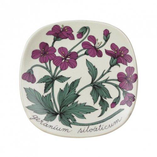 ARABIA Botanica小皿 geranium sylvaticum(ゼラニウム)