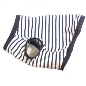 ダックスフンド 服 コーギー 服   ブルー&ホワイトポロ