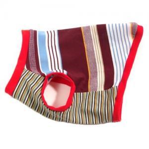 チワワ 服 トイプードル 服 鹿の子素材マルチボーダー ボルドー