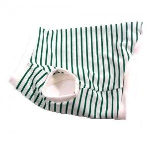チワワ 服 トイプードル 服 ひんやり爽快 吸水速乾性 消臭COOLボーダー グリーン