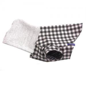 小型犬の服 ブラック フード付きシャツ