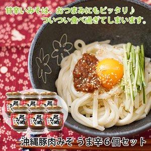 1/31まで10%OFF★沖縄豚肉みそ うま辛 6個セット【ギフト対応可】