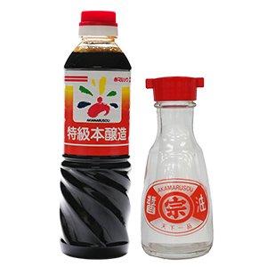 【カタログ掲載商品】特級醤油(500ml)+レトロ醤油差しセット