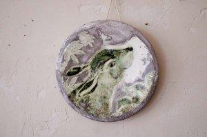MAJO|タイル画絵皿|うさぎ