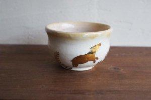 MAJO|桃色ラスターちびカップ|マレーバク 宵のおさんぽ