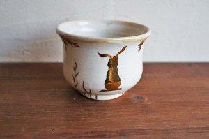 MAJO|桃色ラスターカップ|ウサギ 金の穂