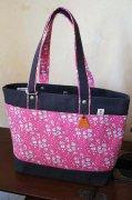 LittleDaisy|帆布トートバッグ(リバティプリント)|ピンク|カペル|Lサイズ