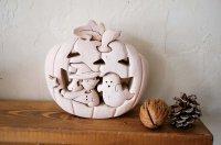 森風社/組み木細工/かぼちゃハウス「ハロウィン」