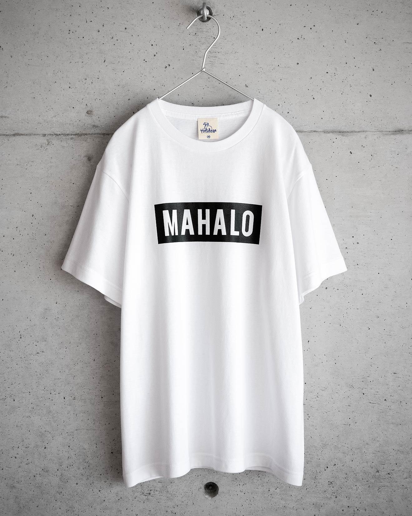ホリデイズのサーフ系 MAHALO BOX LOGO Tシャツ