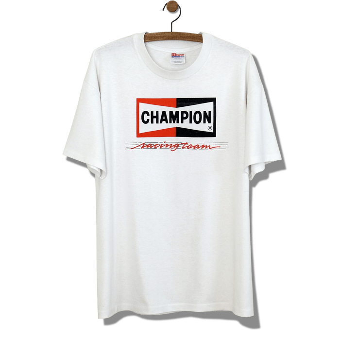 CHAMPION SPARK PLUG チャンピオン・スパークプラグ オフィシャル ユーズドTシャツ | Horizon Blue