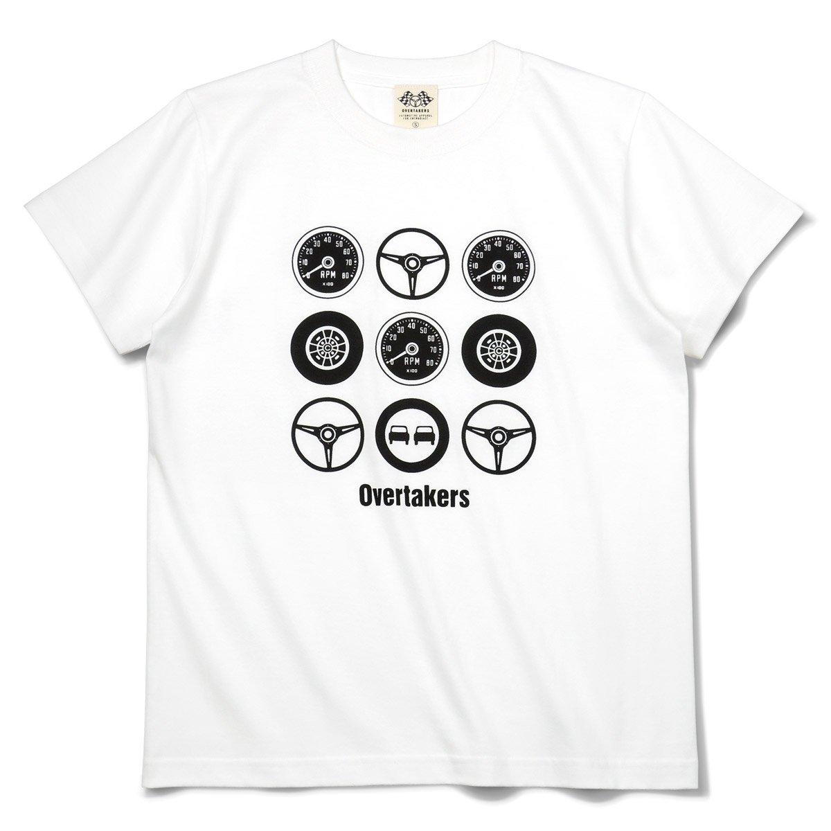 オーバーテイカーズのモーター系 CIRCLE 9 Tシャツ