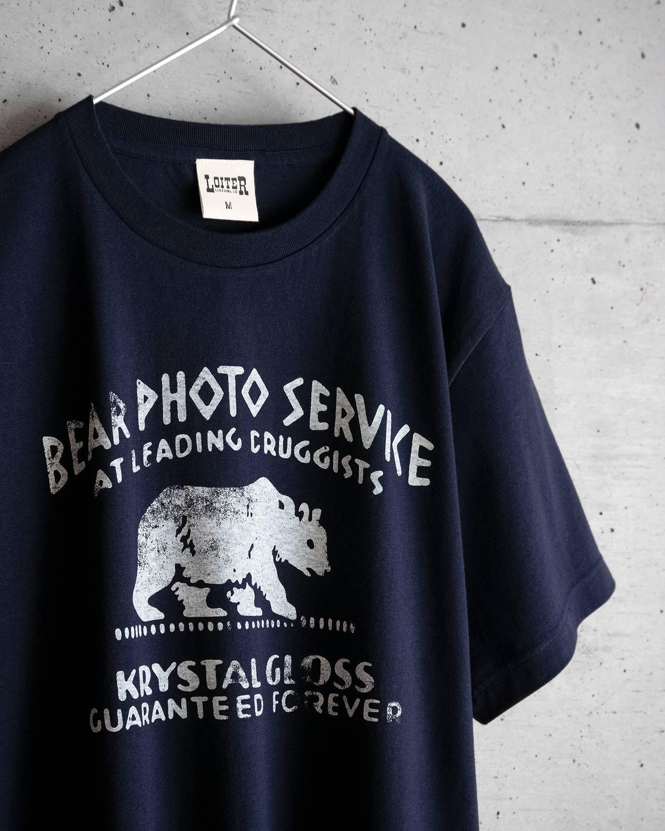 アメカジ BEAR PHOTO SERVICE Tシャツ