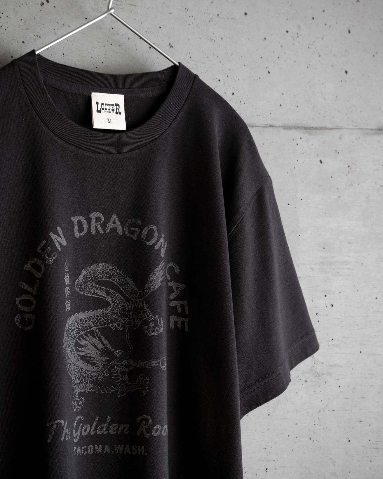 アメカジ GOLDEN DRAGON CAFE Tシャツ