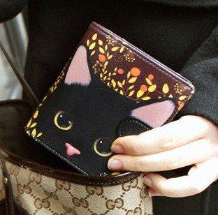 [JETOY]Choo Choo 二つ折り財布[黒猫]