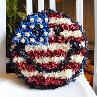 スマイルマークリース アメリカ国旗ver.(カワイイとカッコイイが合わさったスマイルマーク!) 直径30cm