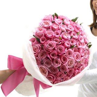 ゴージャスバラの花束【お好みの色をご指定できます】(誕生日に!!)