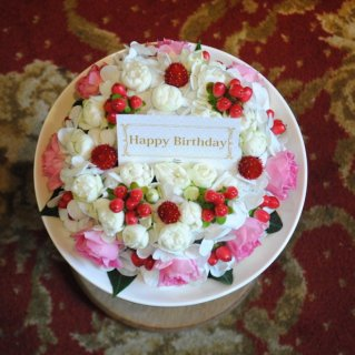flower cake1段ver.(誕生日にイチオシ☆)