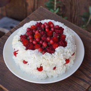 flower cake1段ver.(出産祝いにイチオシ☆)