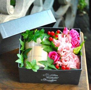 box flower & キャンドル(結婚祝いに)