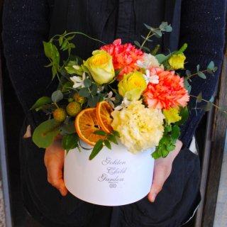 明るい爽やかプレゼントのBOX FLOWER