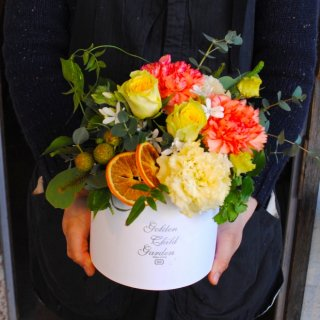 明るい爽やかプレゼントのBOX FLOWER(退職祝・送別会に!)