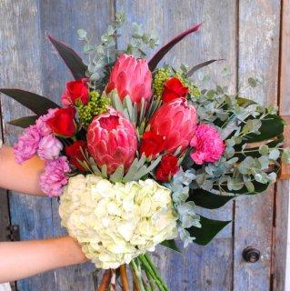 感謝を伝える花束(還暦祝いに)