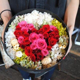 heart box flower〜プリザーブドフラワー〜(還暦祝いに)
